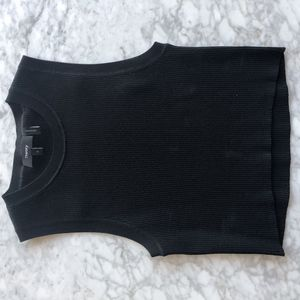 Theory crop top knit